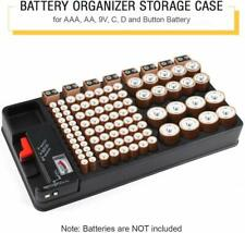 More details for 110 battery organizer storage case batteries storage box with battery tester uk