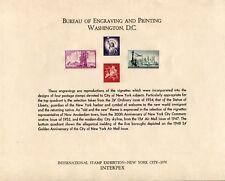 Bureau Engraving and Printing NEW YORK CITY Souvenir Card Print INTERPEX 1970