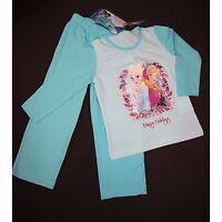 DISNEY pyjama LA REINE DES NEIGES 2-3 ou 4-5 ans turquoise Anna Elsa  NEUF