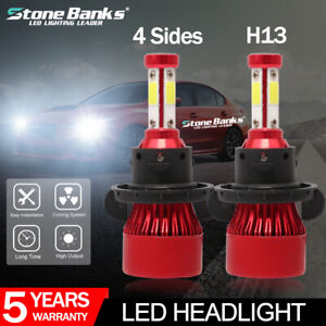 CSP Chip CANbus-Ready IP67 6000K Xenon White 2-Pack H13//9008 LED Headlight Bulbs Marsauto 12000LM M2 Series Led Hi//Lo Beam Headlamp Conversion Kit with Fan