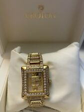 gold Sapphire Crystal Croton Ladies Watch New Box