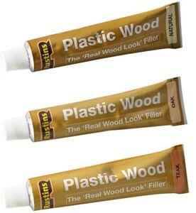 Rustins Plastic Wood Repair Cracks Holes Etc. Indoor & Outdoor Fast Drying