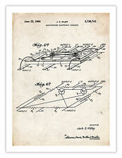 """FIRST COMPUTER MICROCHIP INVENTION POSTER 1964 PATENT PRINT 18X24"""" GEEK GIFT"""