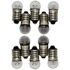 2X 5X 10X E10 Halogen Birne Schraubsockel Glühlampe Taschenlampe Glühlampe 12V