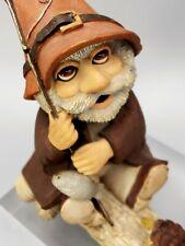 Gnomes Sleepy Hollow Figurine 1989 Bachwurks Holland Studio Fishing Time