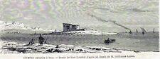 Antique print european cemetery Suez Egypt 1860
