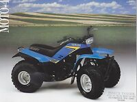 1980s YAMAHA MOTO-4 two sided vintage four wheeler ad sheet