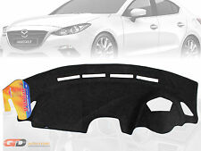 DASH MAT MAZDA 3 BM 02/2014-ON SP25 GT Astina with Active Drive BLACK DM1345