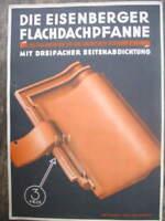 8455 Publicidad Flachdachpfanne Fa. Müller Eisenberg 1936