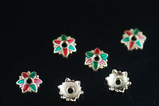 20Pcs 8mm Enamel rondelle beads Bead Caps Spacer Jewelery Craft Making Findings
