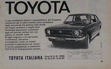 Advert Pubblicità 1971 TOYOTA COROLLA E20 COUPE'