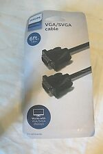 Philips Audio 5029 VGA SVGA CABLE  6 FT/1.8m Works with all brands