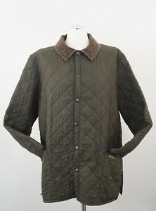 Barbour Men's Quilted Jacket Liddesdale Size XL Green -J395