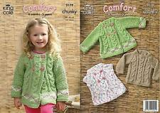King Cole 3179 Knitting Pattern Sweater and Jackets in King Cole Comfort Chunky