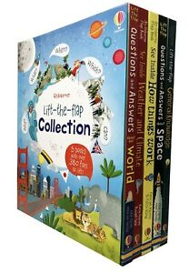 Usborne Lift The Flap Collection 5 Books Collection Set with over 380 flaps