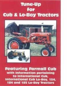 Farmall Cub International  Lo-Boy 154 184 185 LoBoy Tractor Tune-Up DVD