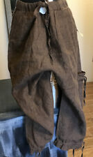 Coldwater Creek Womens Pants Size 4 Brown Linen Cargo Crop