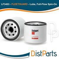 LF3403 Fleetguard Lube, Full-Flow Spin-On, Replaces Kubota 7000015241