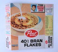 1961 Post Cereal Near full Box RARE Bran Flakes Uncut panel -