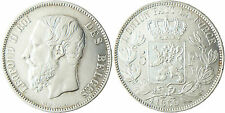 BELGIQUE  LEOPOLD  II  ,  5  FRANCS  ARGENT    1869  ,  QUALITÉ