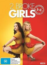 2 Broke Girls : Season 1-4 (DVD, 2015, 12-Disc Set)