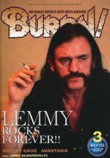Burrn! Heavy Metal Magazine March 2016 Japan Motorhead Lemmy Kilmister