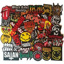 Wholesale Lot of 49 Metal Rock Punk Retro Mix Band Iron On Patch Embroidered DIY
