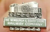 NEWBURGH & SOUTH SHORE Railroad NSR Sterling Silver 925 TIE TACK/LAPEL PIN Vtg