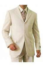 Men's Modern Fit Suit 3 Button Solid Formal Two Piece Single Breasted Suits