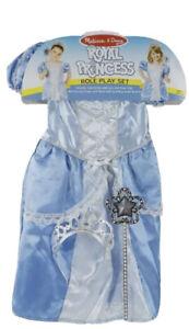 Melissa & Doug Royal Princess Role Play Dress-Up Set Costume Cinderella W/ Crown