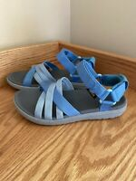TEVA Women's SANBORN Sandals Blue Strappy Hiking Water Shoes SIZE 6 (7Z6)
