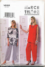 VOGUE SEWING PATTERN 9193 MISSES 16-24 MARCY TILTON PANTS & TUNIC IN PLUS SIZES