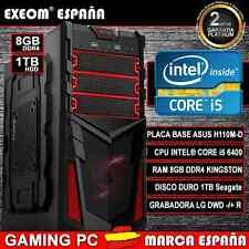 Ordenador Gaming Pc INTEL CORE i5 6400 6ª GEN 8GB DDR4 1TB HDMI De Sobremesa