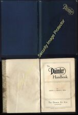 1912 Original DAIMLER  Co Coventry Handbook by J A Mackle, 111 pages