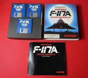 Nighthawk F-117A Stealth Fighter 2.0 Commodore Amiga Game Boxed Complete