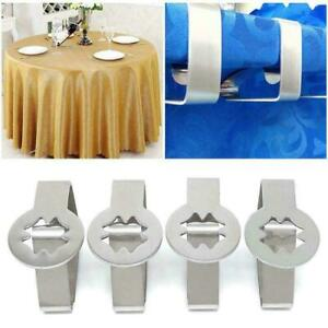 1x Steel Tablecloth Clip Clamps For Outdoor Picnic BBQ 6.5*5cm R0V7