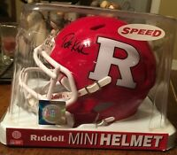 Patrick Kivlehan SIGNED Rutgers Scarlet Knights mini helmet - Pittsburgh Pirates