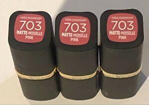 L'oreal Color Riche Matte Lipstick, 703 Matte-Moiselle Pink, 3 Pack