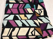 Lularoe purple turquoise cream camel triangle shapes Print TC2 Legings PlusSize