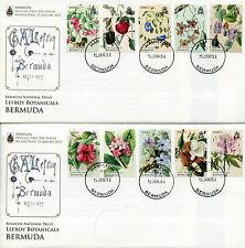 Bermuda 2015 FDC National Trust Lefroy Botanicals 10v Set on 2 Covers Flowers