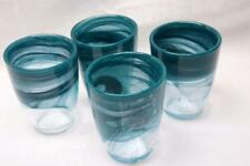 Artistic Accents Teal Green Opal Pearl Tumbler Glasses(s) - Made in Turkey- S/4
