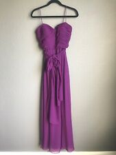 JS Collections Formal Dress Long Maxi Gown $290 Purple 6 Silk Chiffon