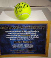 Pallina Tennis Ball Roger Federer RF Signed Autografata Signed Autograph