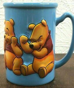 Disney Store Exclusive Winnie The Pooh 3D Raised Embossed Coffee Mug Blue