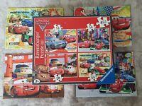 Disney Pixar Cars & Cars 2 Jigsaw Puzzles Ravensburger 100% Complete