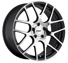 17x8 TSW Nurburgring 5x112 Rims +45 Gunmetal Wheels (Set of 4)