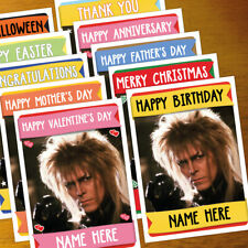 LABYRINTH GOBLIN KING Personalised Card ANY OCCASION - xmas, personalized bowie
