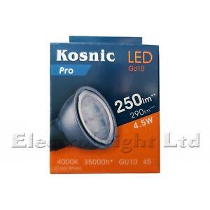 "Kosnic GU10 LED Bulbs. ""A"" Rated.3.5w,4w,4.5w,5w,6w Watt-Warm,Day or Cool White"