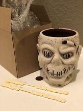 Disney Trader Sam's Enchanted Tiki Room Bar 4thEd Shrunken Head Zombie Mug NIB+