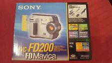 Sony Mavica MVC-FD200 2.0MP Digital Camera - Black & Metallic silver